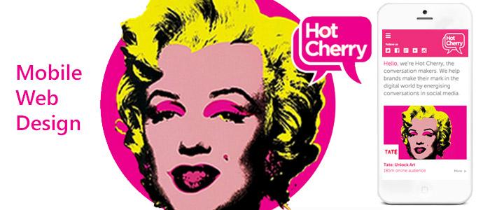 mobile website design image for hot cherry