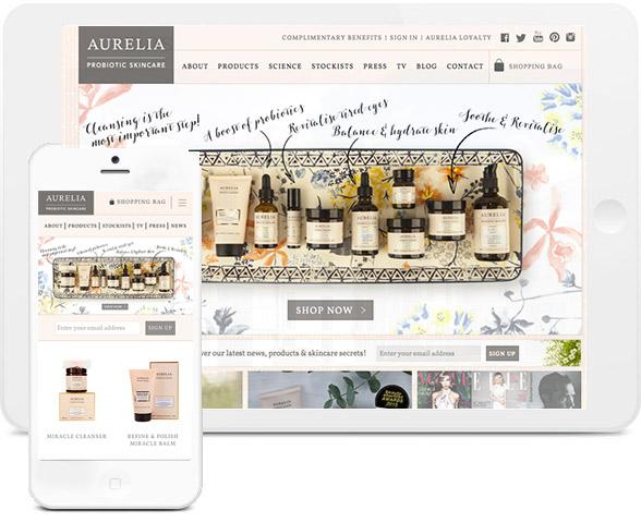 aurelia skincare mobile and ipad