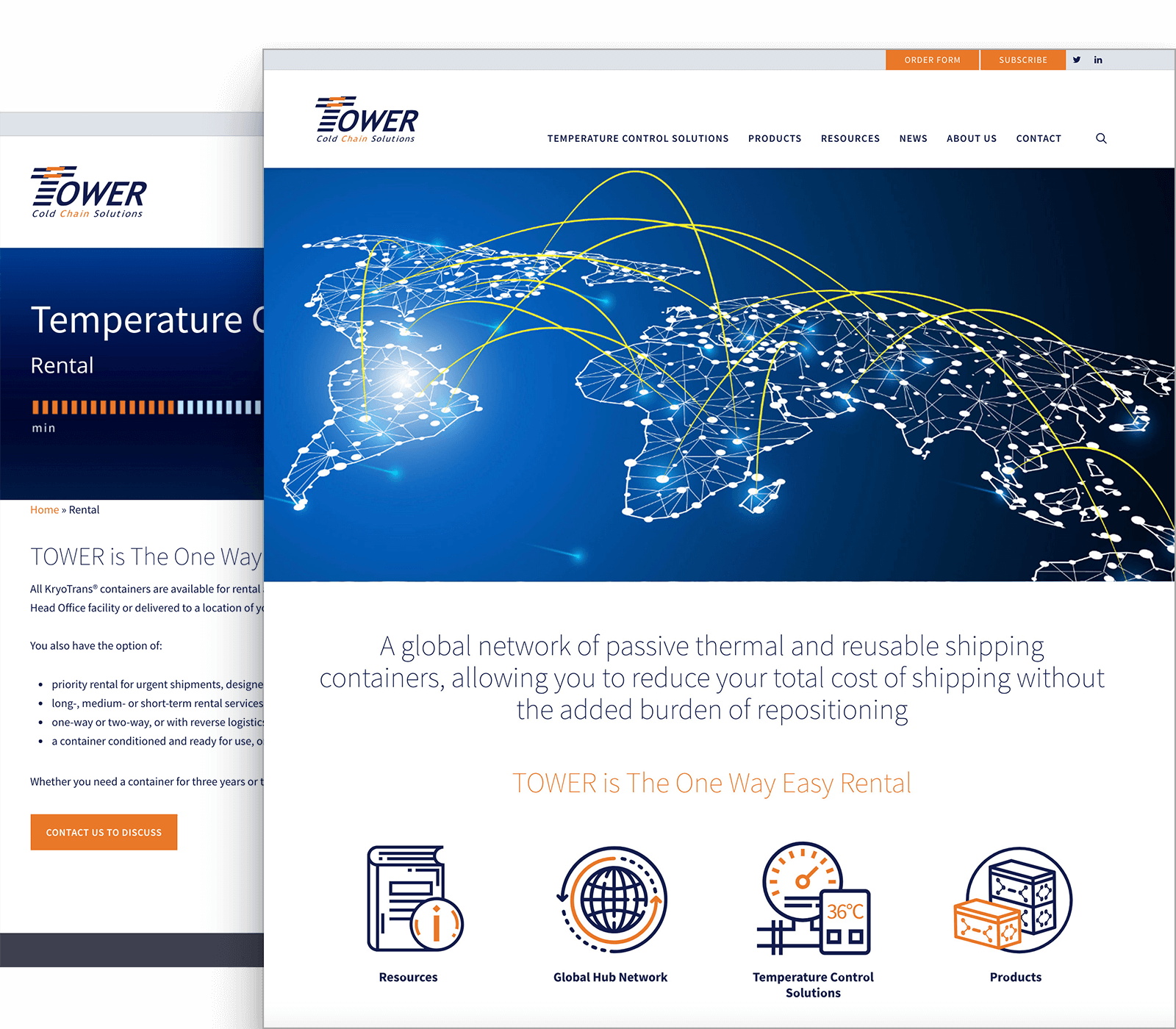 Tower cold chain case study - graphic design services