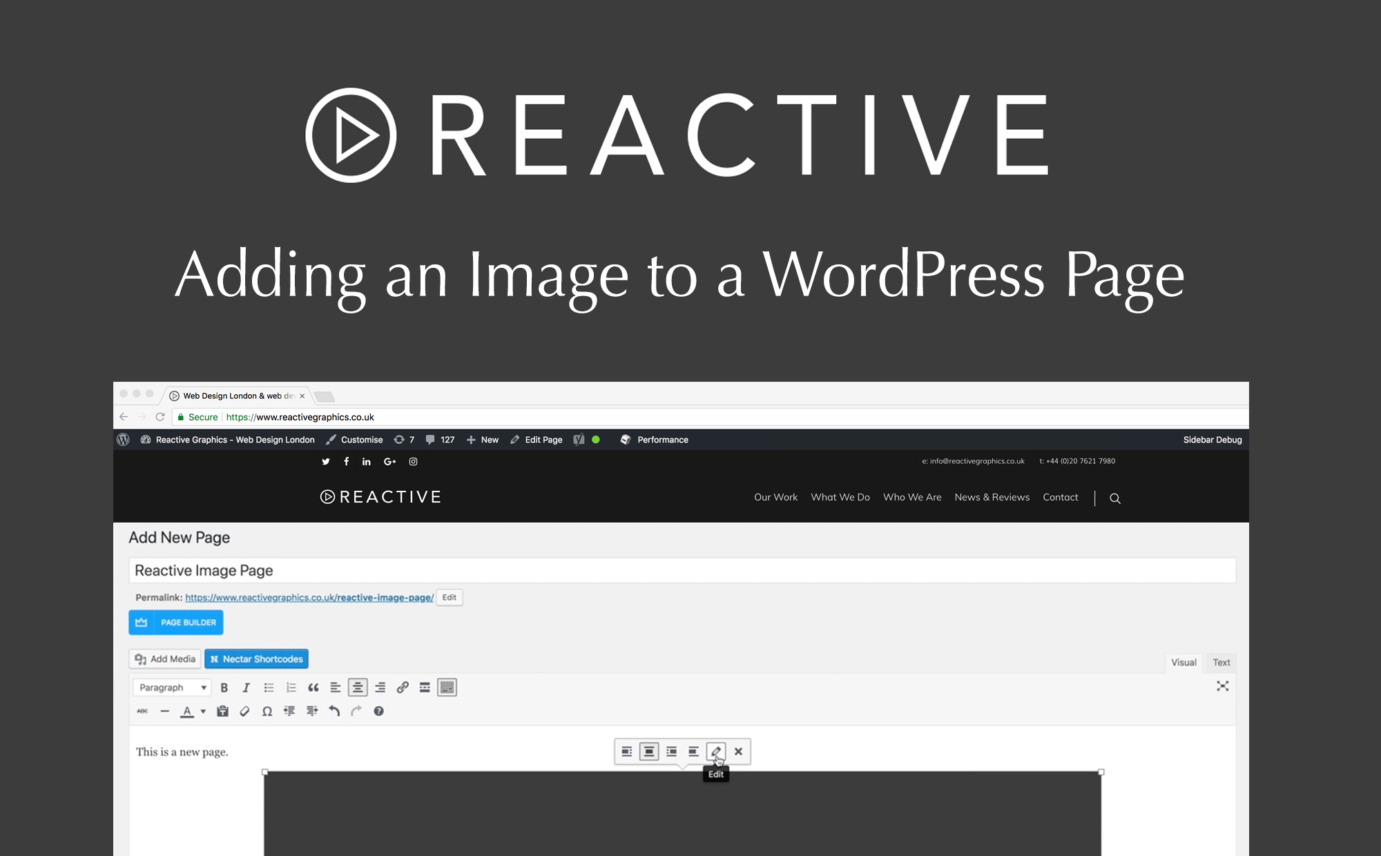 Adding an image to a wordpress page