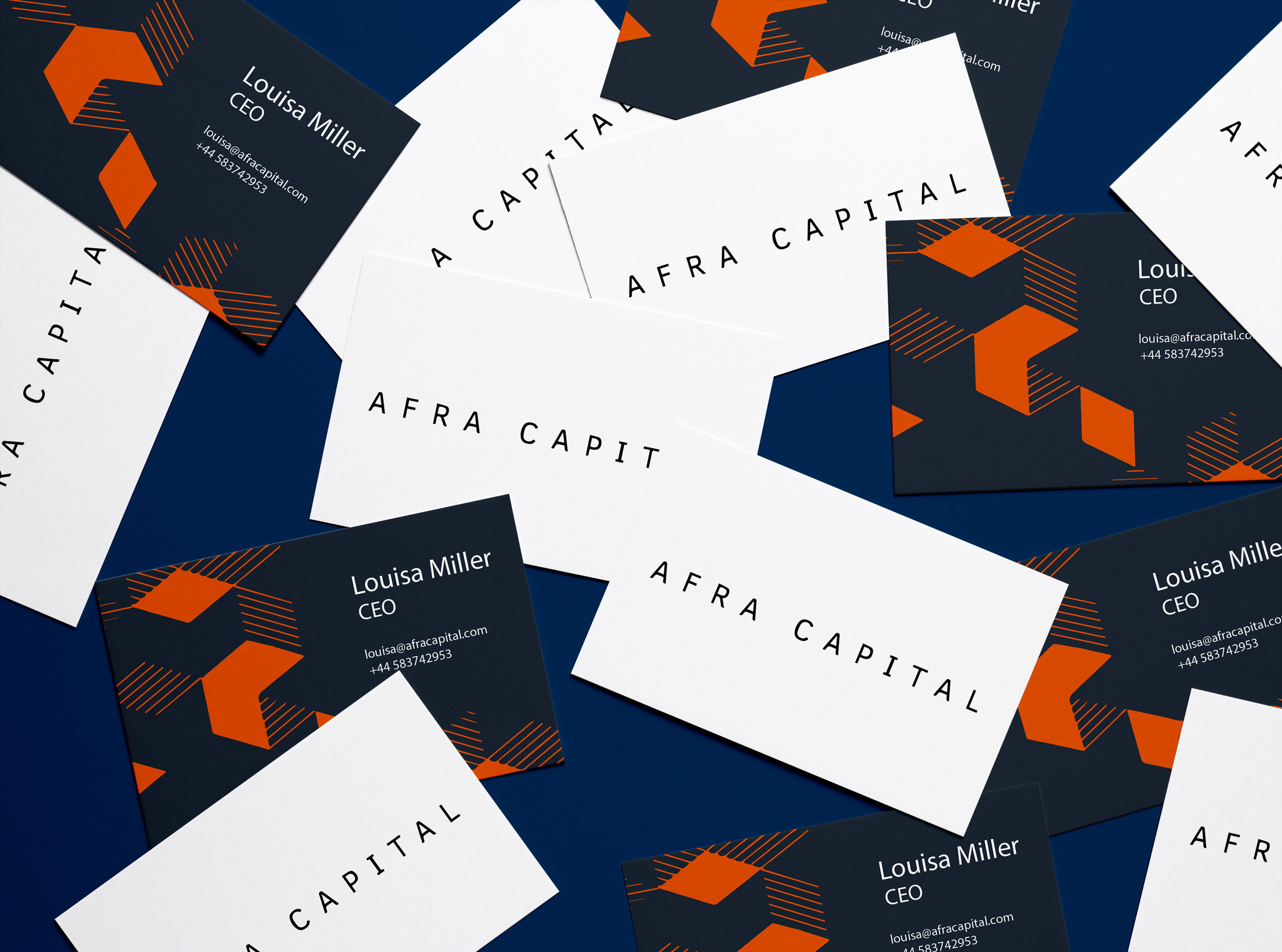 Afra Capital Business Cards