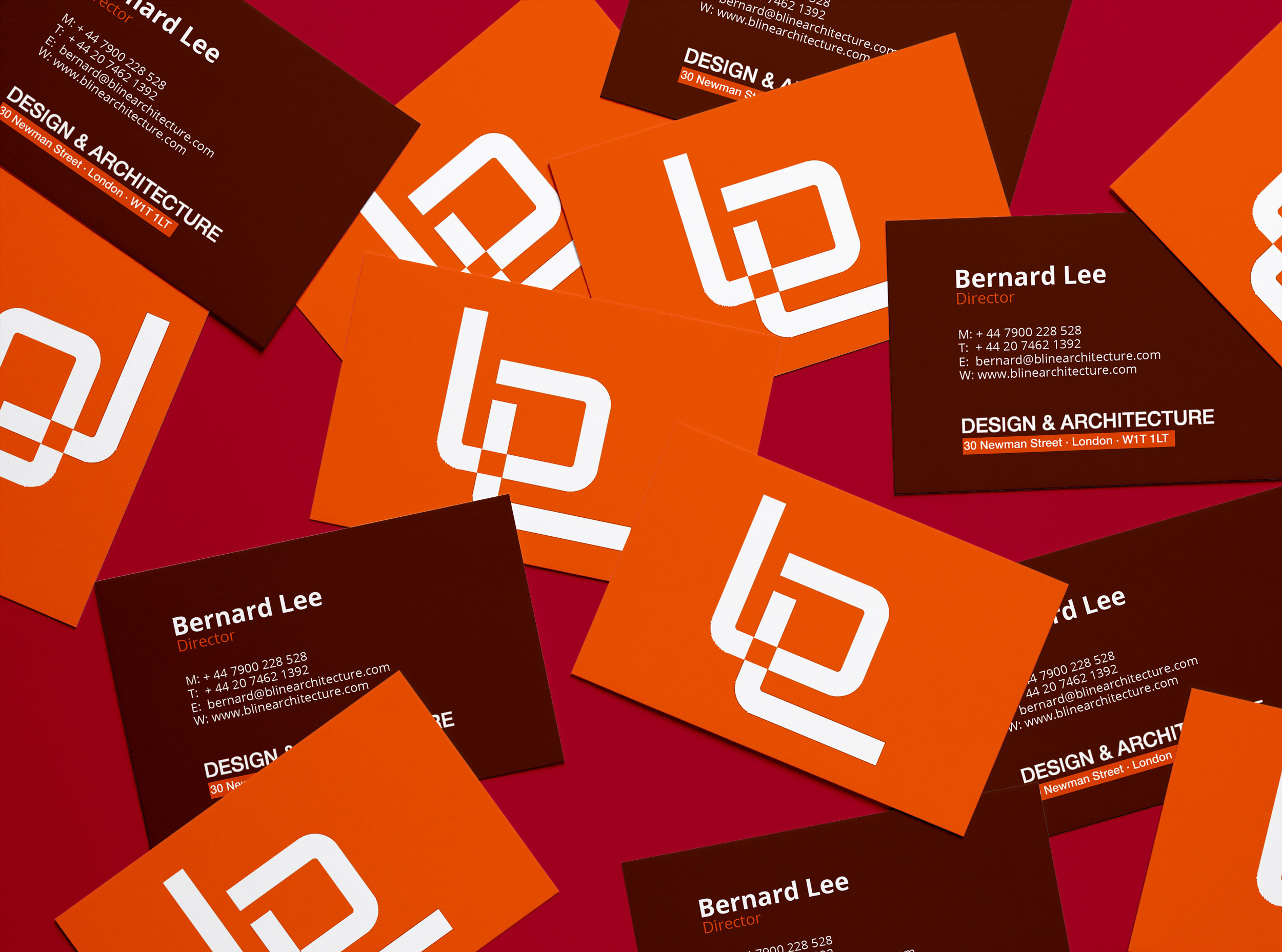 business card design for architects