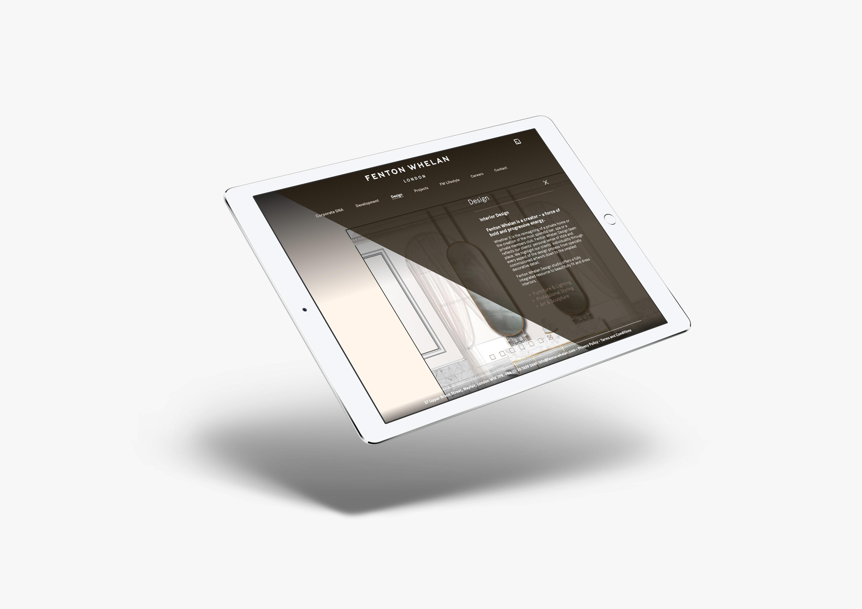 fenotn ipad website design
