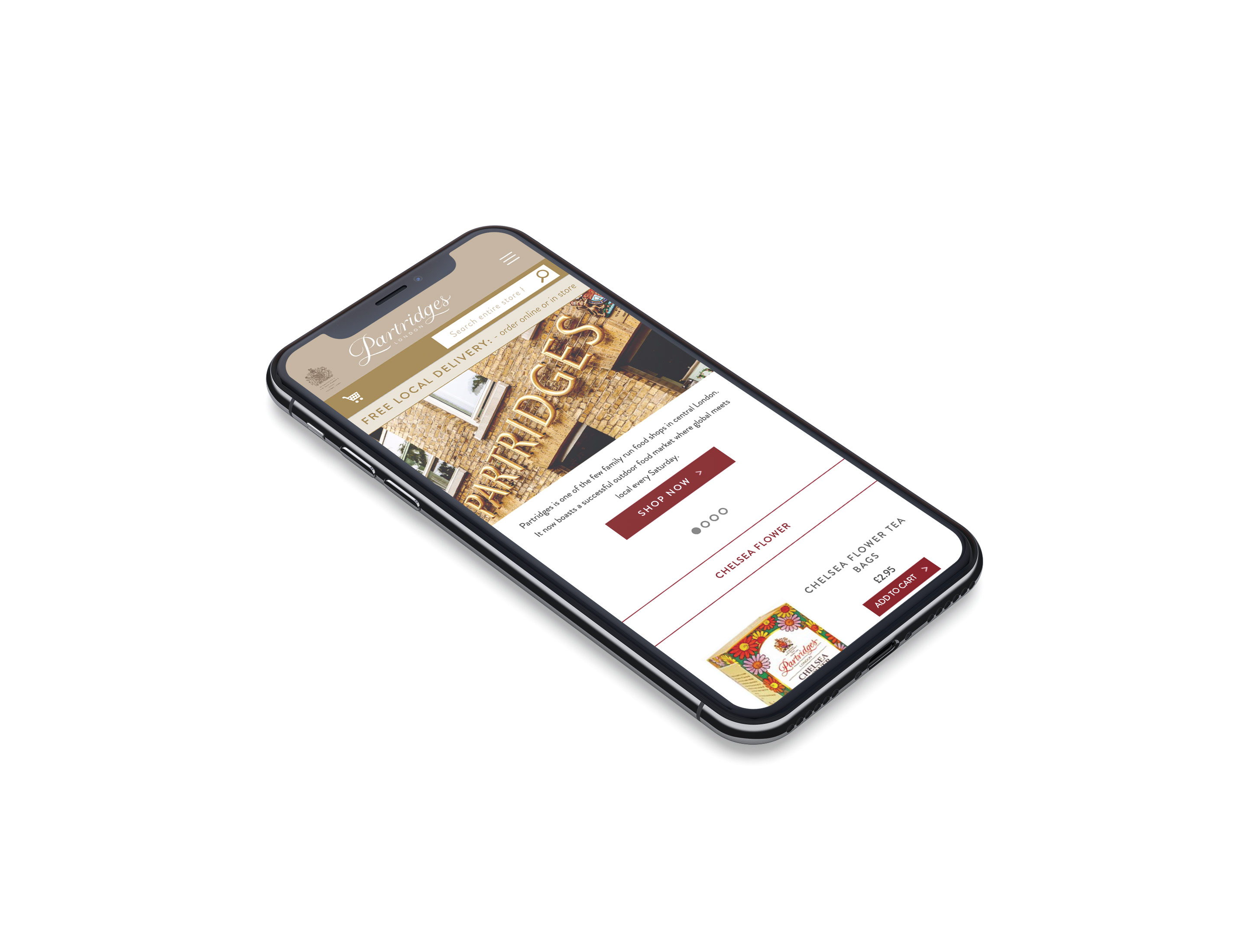 partridges mobile website for ecommerce