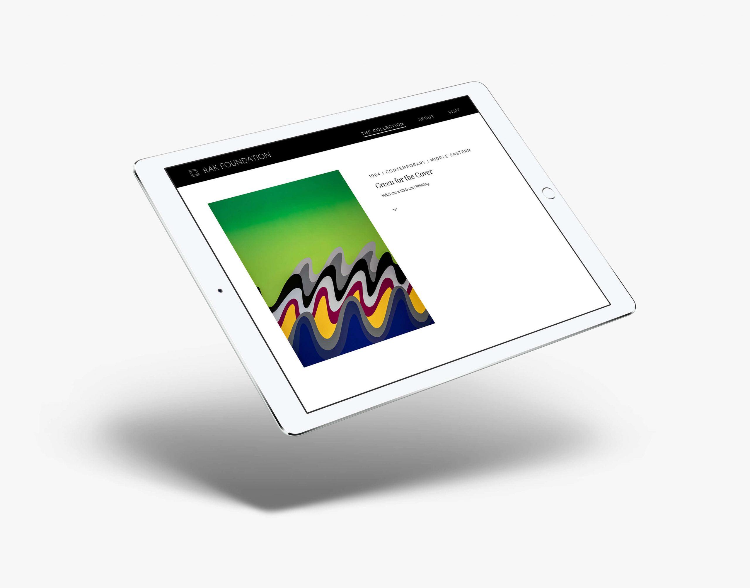 rak foundation web design landscape ipad