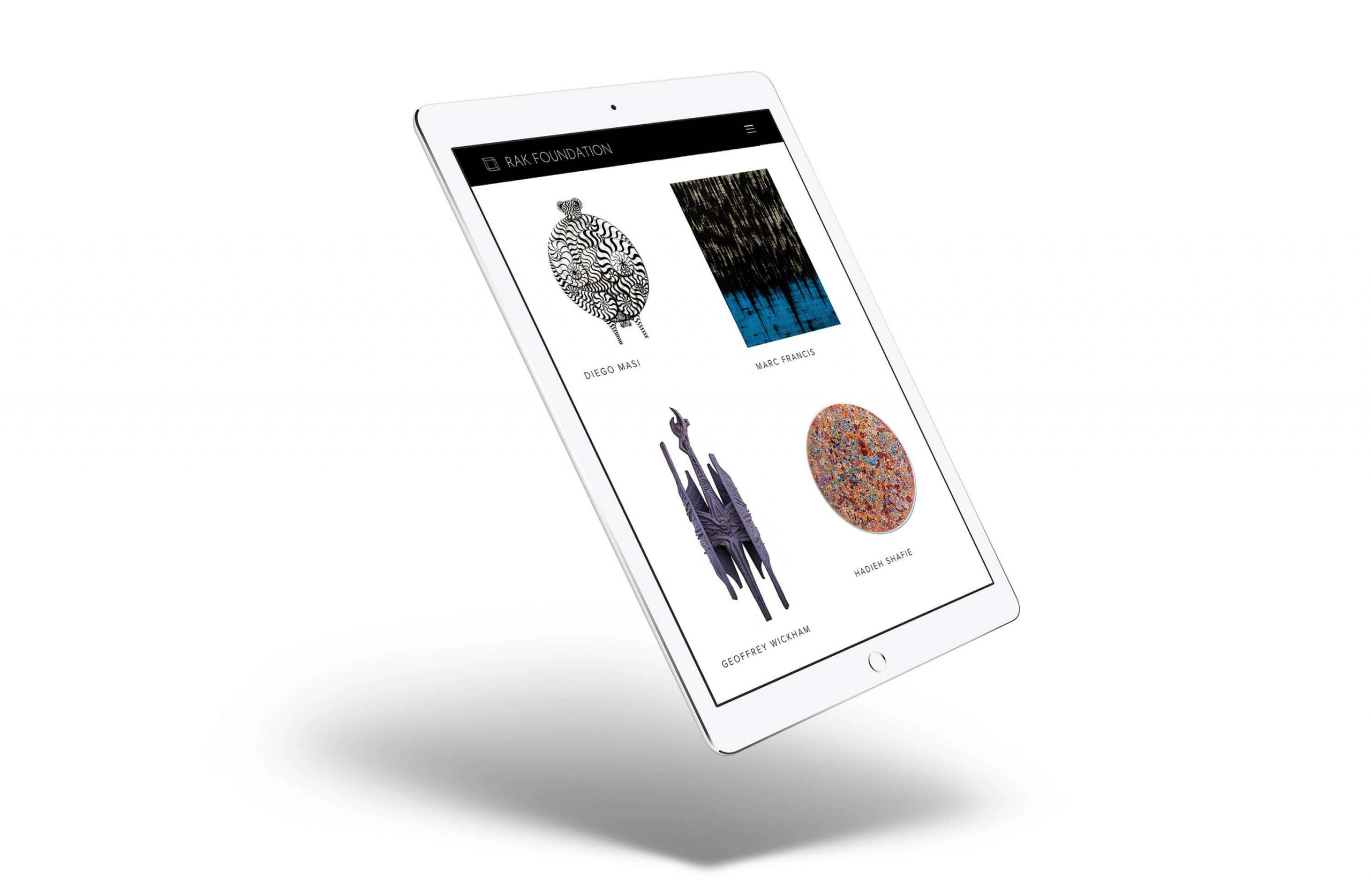 web design art collection tablet