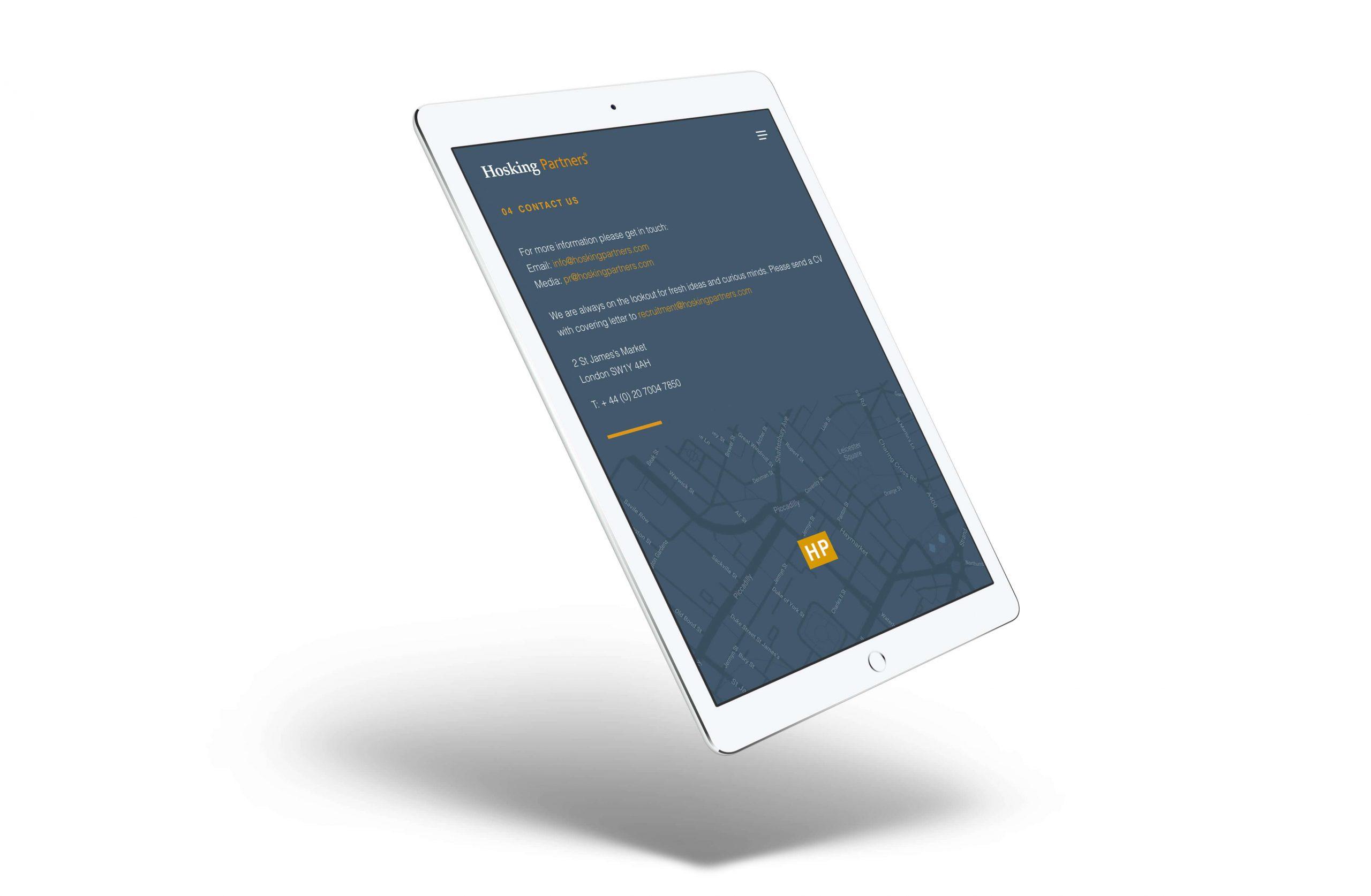 hosking partners ipad finance web design