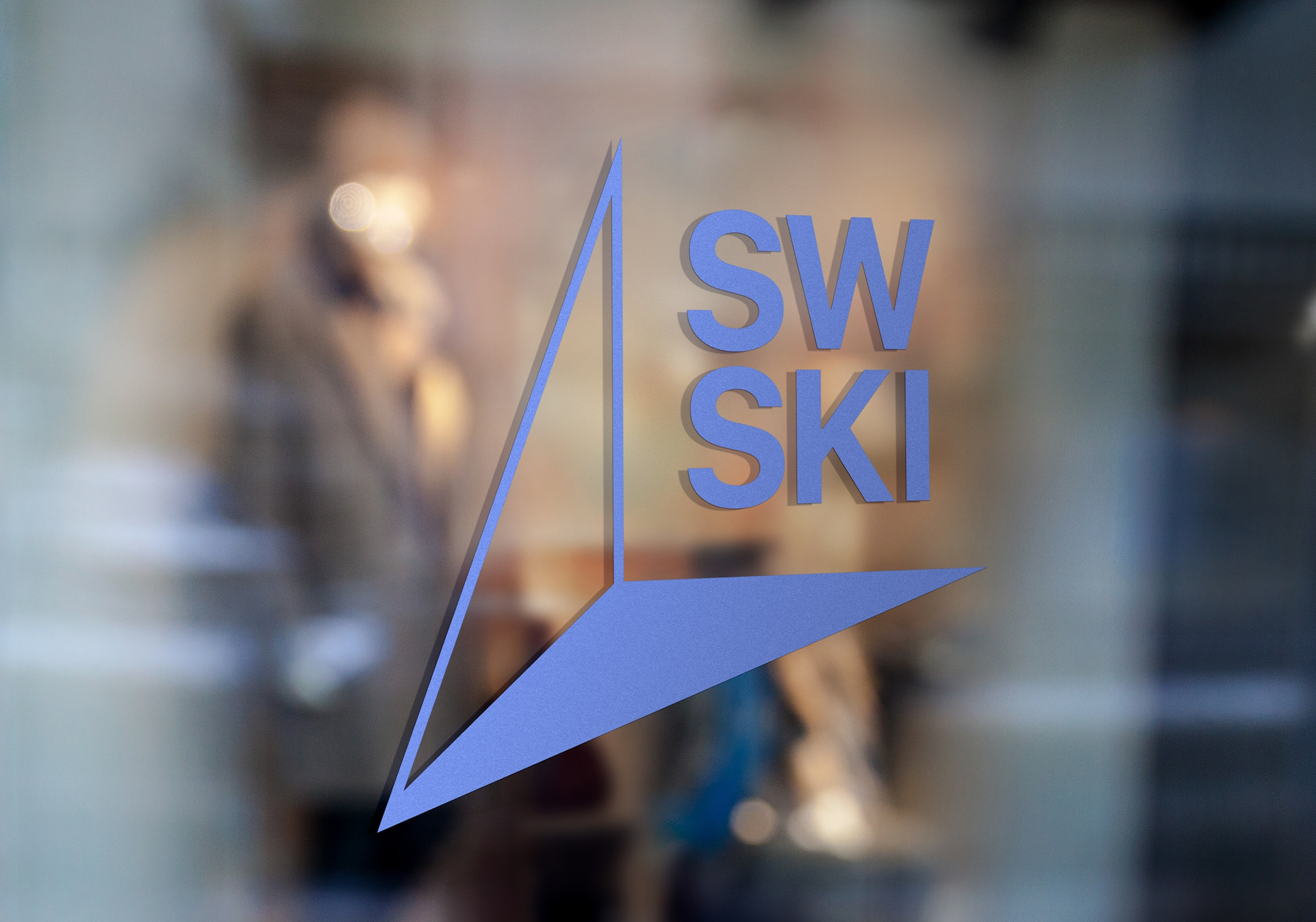 ski shop window logo