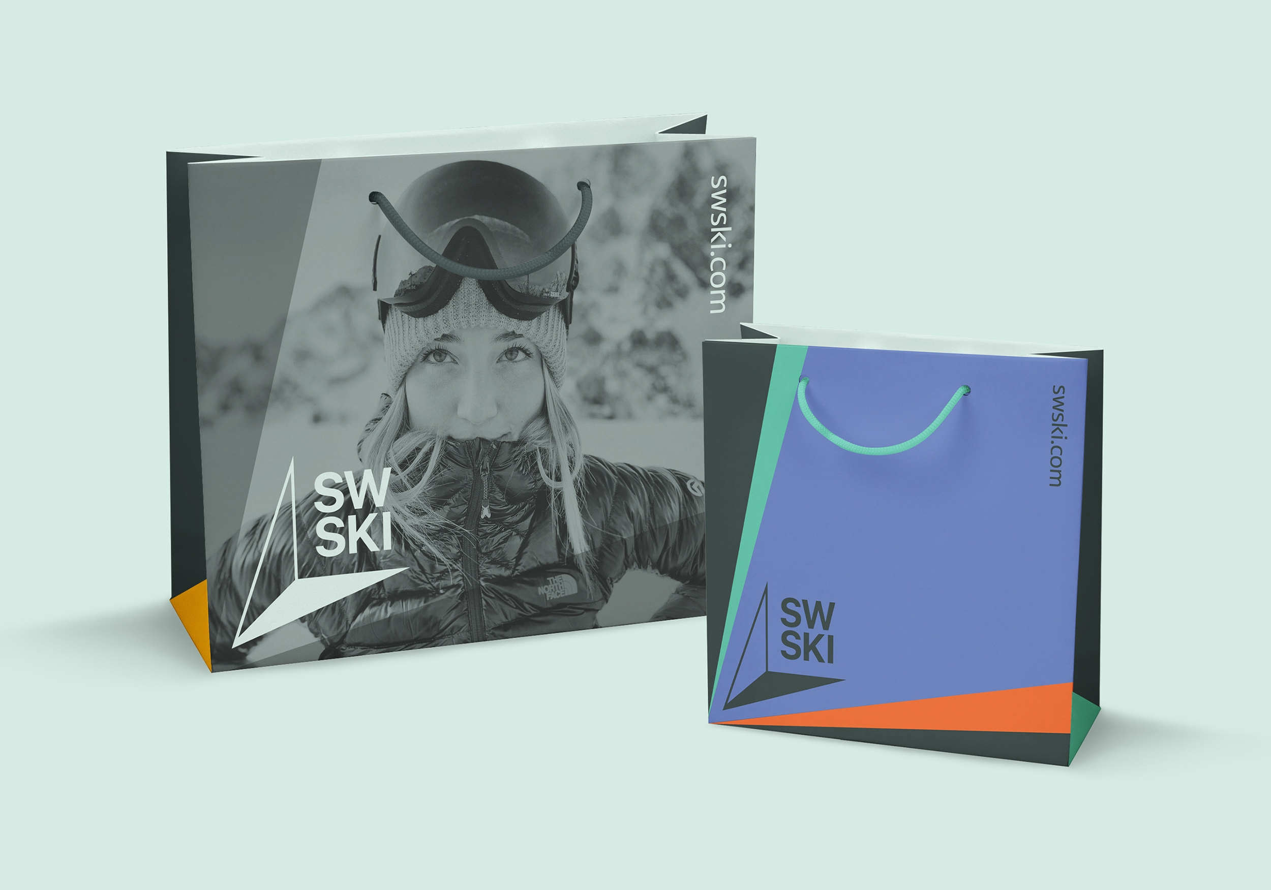 ski branding shopping bag