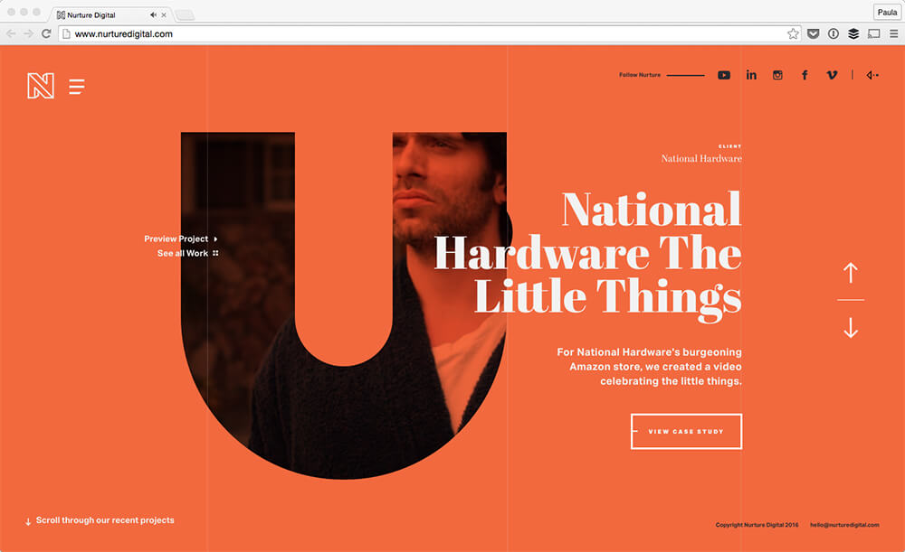 web design trend bold fonts