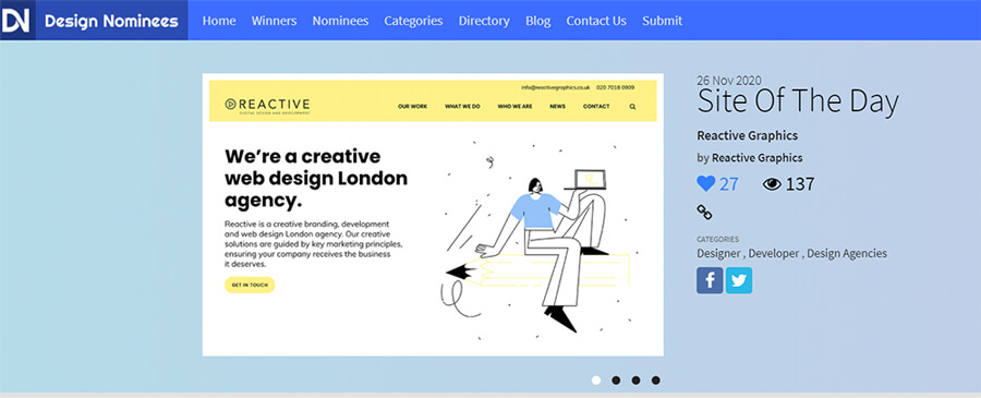 site of the day Design Nominees