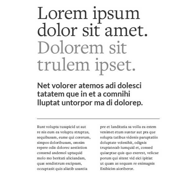 visual hierarchy typography